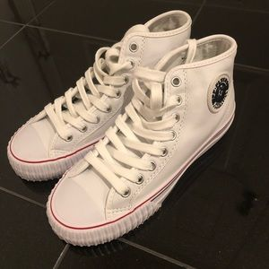 Shoes - New PF flyers leather high top sneakers